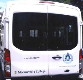 A local school van which the Awarua Trust sponsored